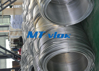 ประเทศจีน 3 / 8 Inch ASTM A269 Small Diameter Stainless Steel Welded Super Long Coiled Steel Tubing โรงงาน