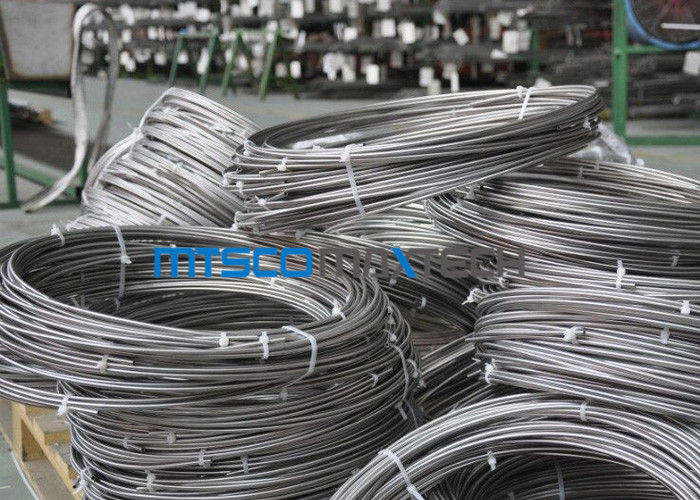 ประเทศจีน Cold Rolled TP 347 / 347H 9.53mm Coiled Stainless Tube Seamless Stainless Steel Pipe โรงงาน