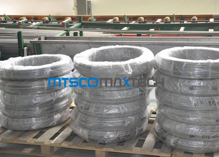 Chemical Industry Duplex Steel Tube Coiled Pipe S31803 ASTM A789 / A790 ผู้ผลิต