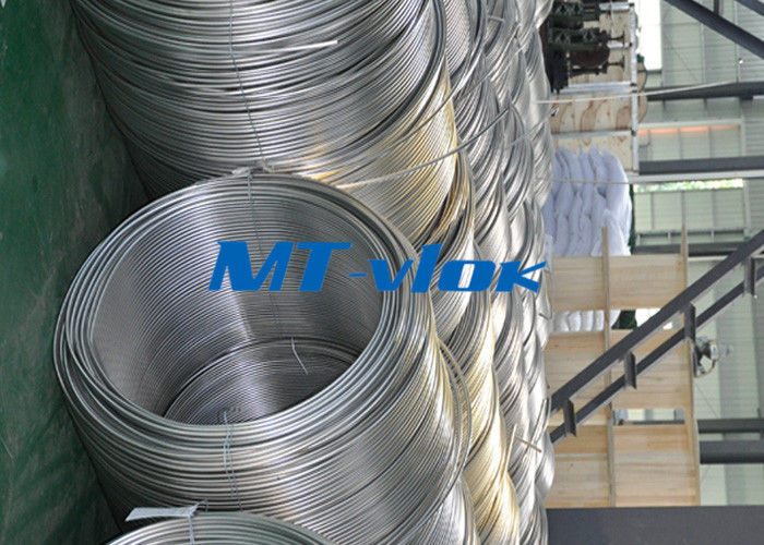 TP316 / 316L Stainless Steel Welded Super Long Coiled Tube For Petrochemical Industry ผู้ผลิต