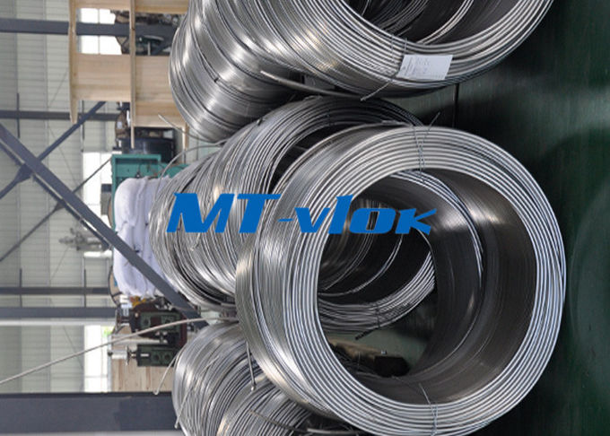 S31600 / S31603 9.53mm Seamless Stainless Steel  Coiled Tubing Super Long